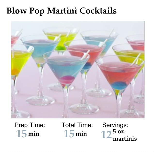 Blow Pop Martini - Musely