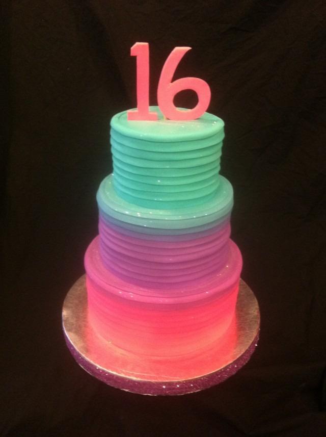 Teir Glow Cake