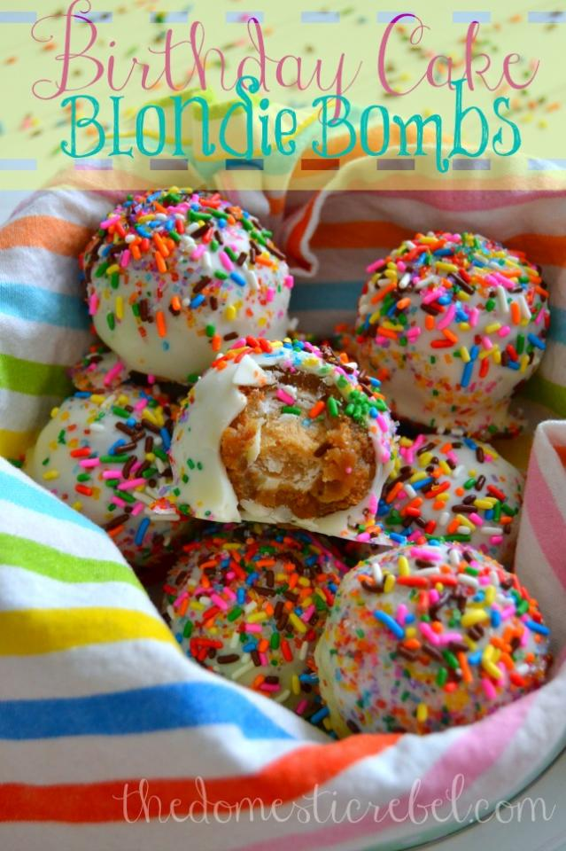 Birthday Cake Blondie Bombs