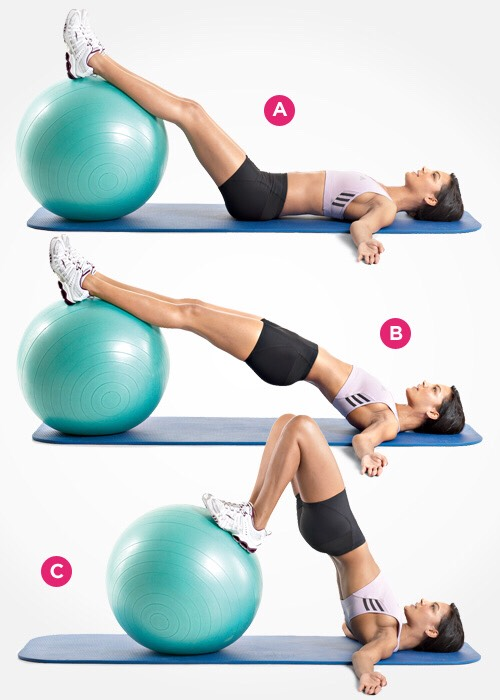 Adding a ball increases the focus on your butt!