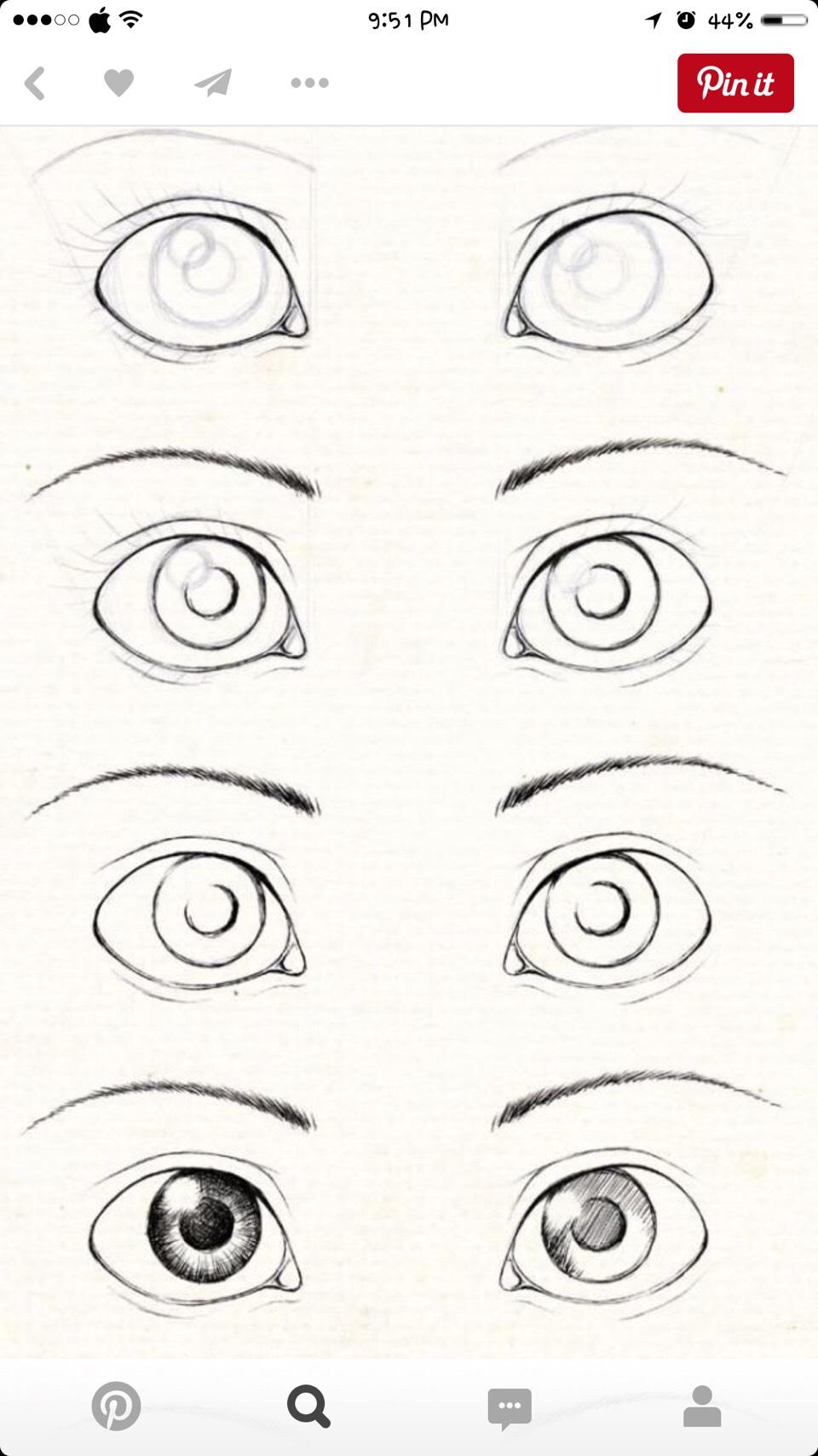 Рисовать глаза человека рисовать поэтапно