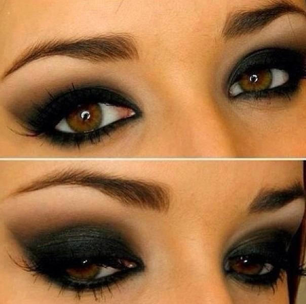 Какой макияж для карих глаз и темных волос