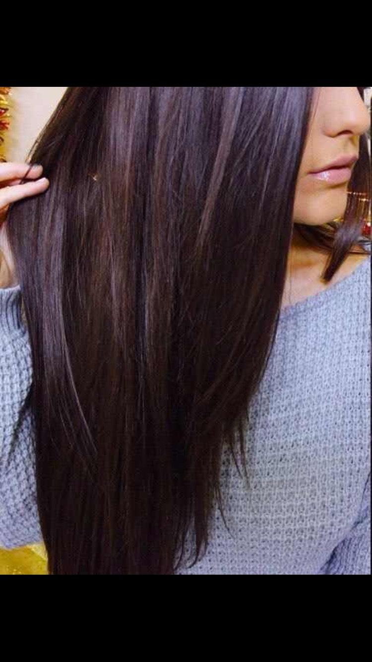 Цвет волос шоколадно чёрный
