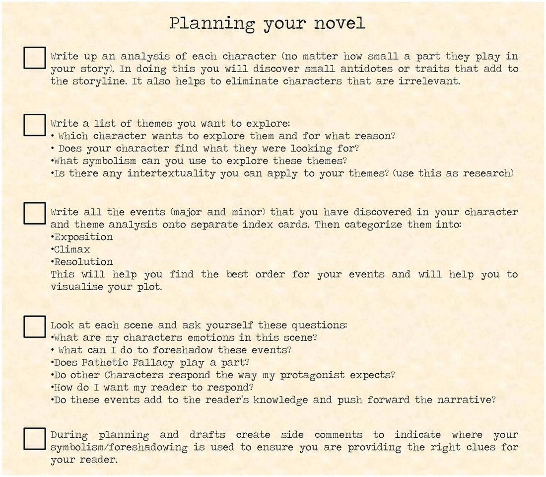 Tips on writing a book outline