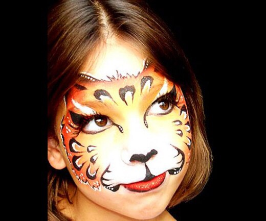 Tigers And Leopards. Face Painting Tutorial For Halloween. - Musely