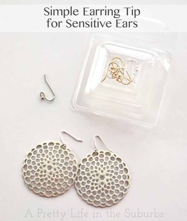 Earring Tip For Sensitive Ears
