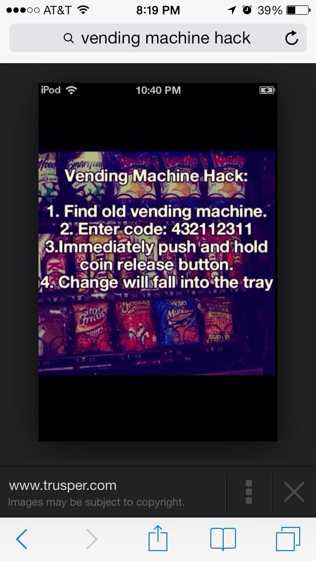 vending machine hack