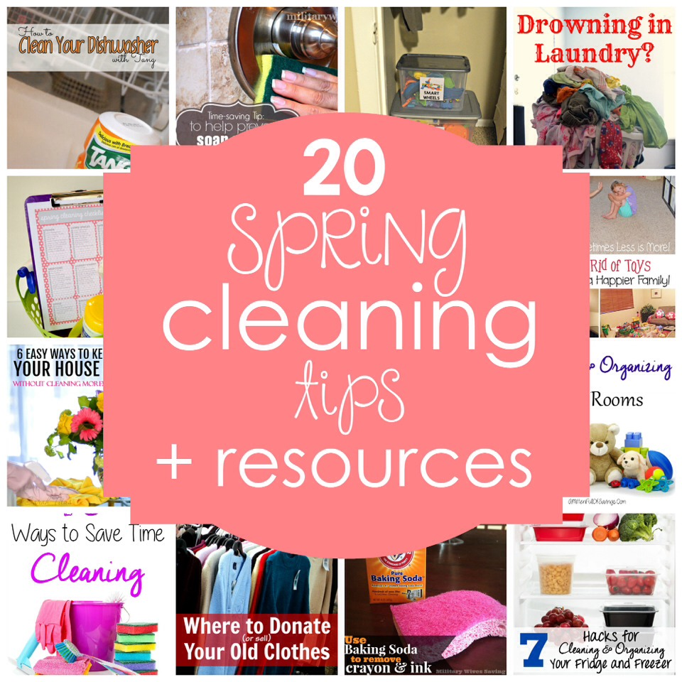 20 OF THE BEST SPRING CLEANING TIPS & RESOURCES Part 1 #