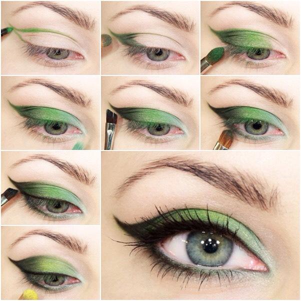 Макияж дневной для серо-зеленых глаз
