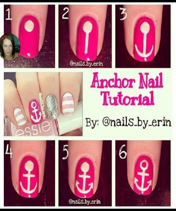Anchor Nail Art Tutorial Musely