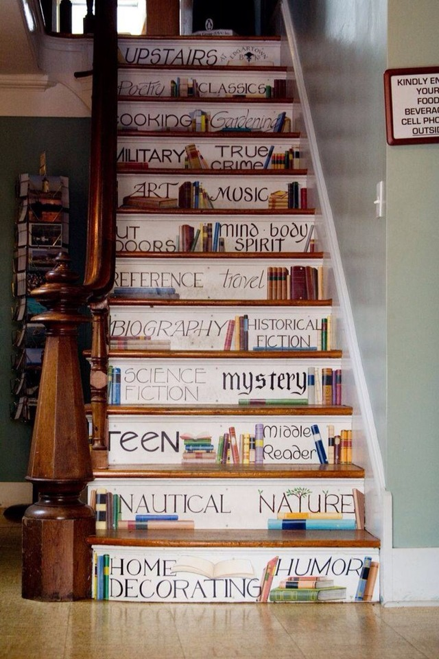 Painted Book Staircase Musely