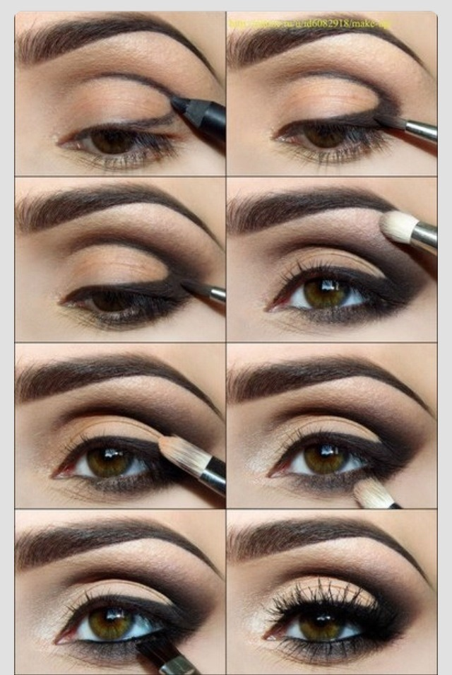 Фото макияж дневной для круглых глаз