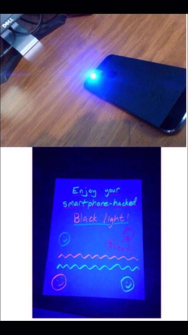 How To Turn Your Phone Into A Black Light!! So Cool ...