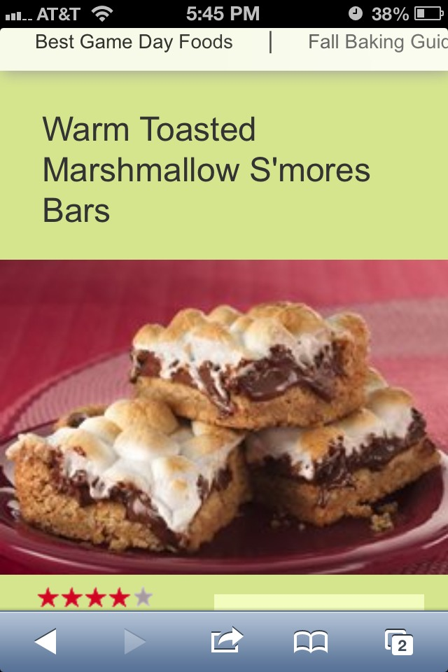 Warm Toasted Marshmallow S'mores Bars - Musely