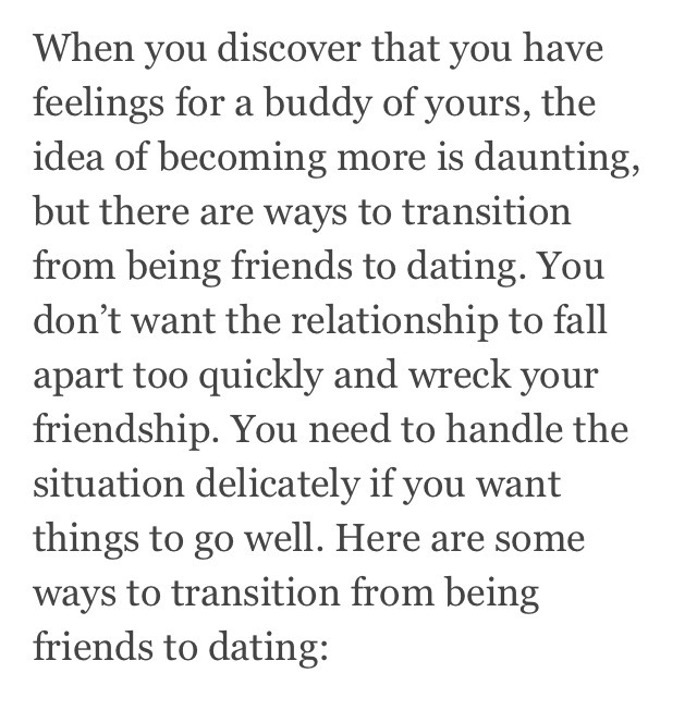 Transition from dating to friendship