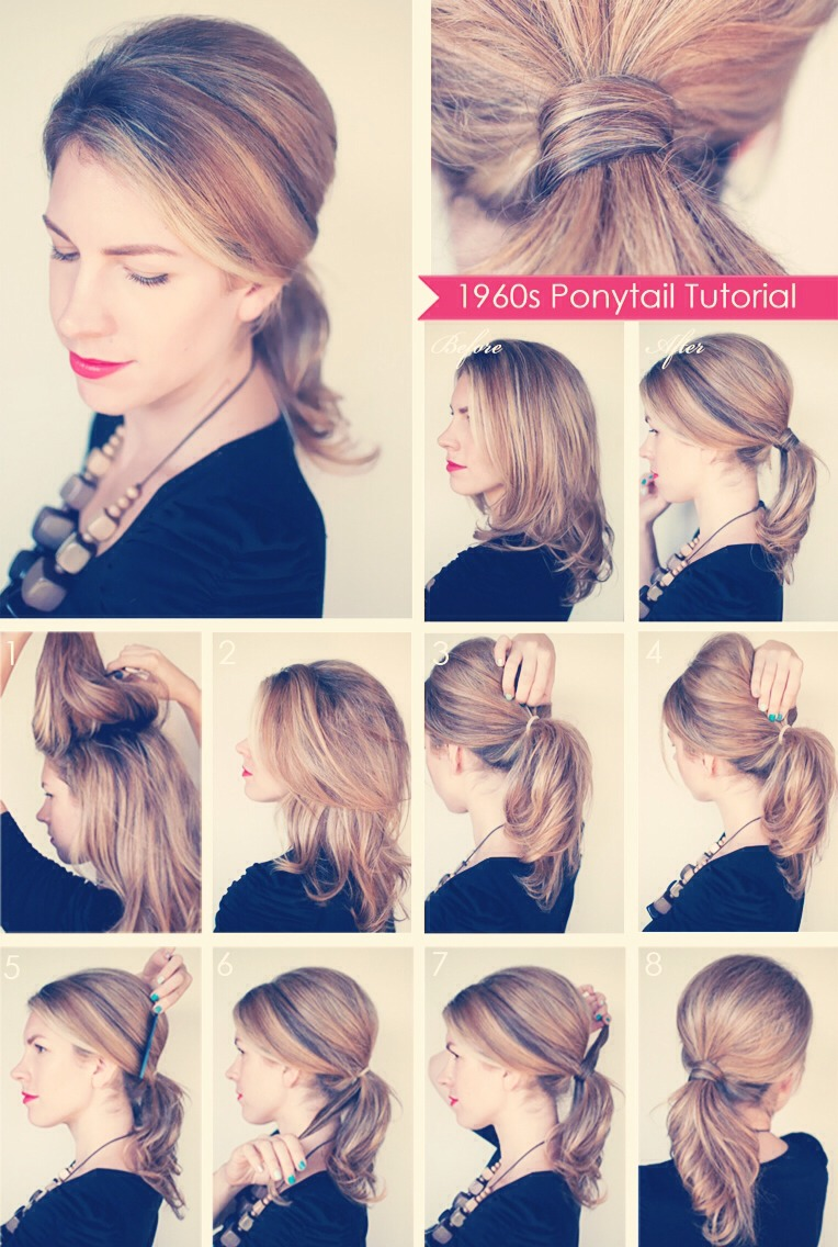 1960's Ponytail - Simple Hairstyle - Musely