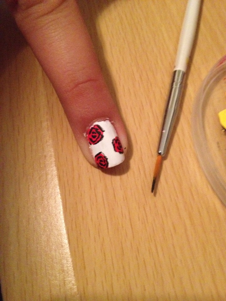 How To Do Rose Nail Art - Musely