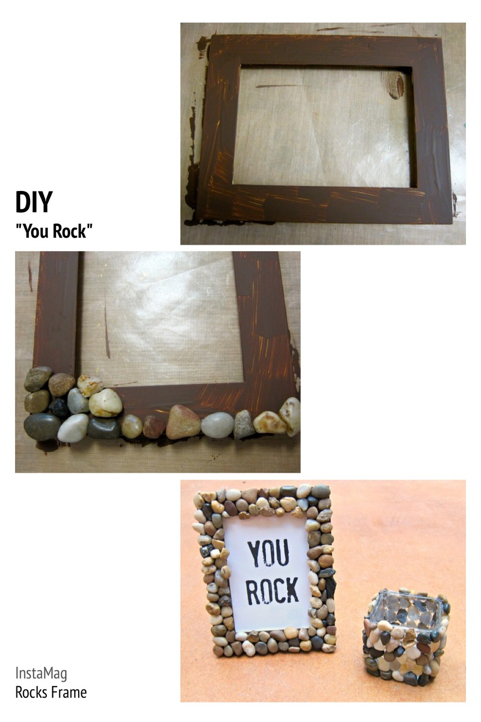 You rock rock accented home decor tutorial great for for Great home decor