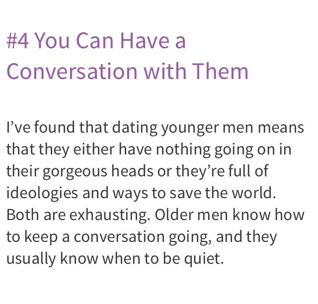 dating an older guy yahoo Even for 14-15 year old girls that seem much more mature than average, having sex with someone 10 years older than they are, is probably not.