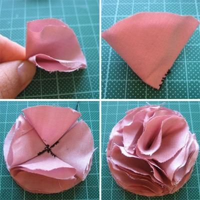Как сделать цветов из ткани для платья