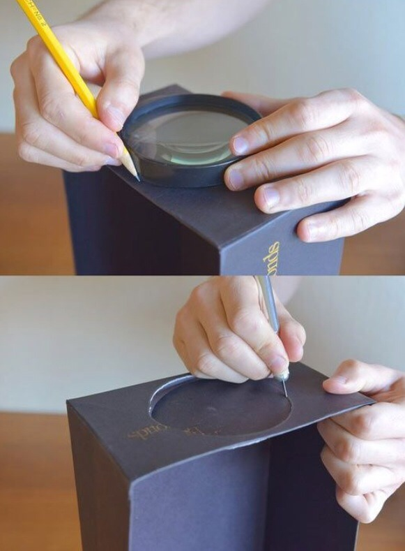 how to make a homemade phone projector