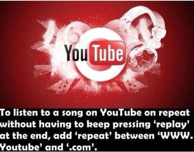 how to listen to a song on repeat youtube