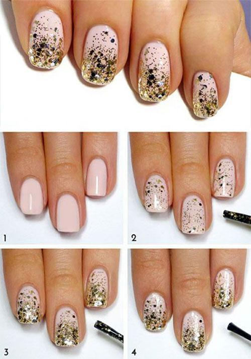Простой дизайн на коротких ногтях