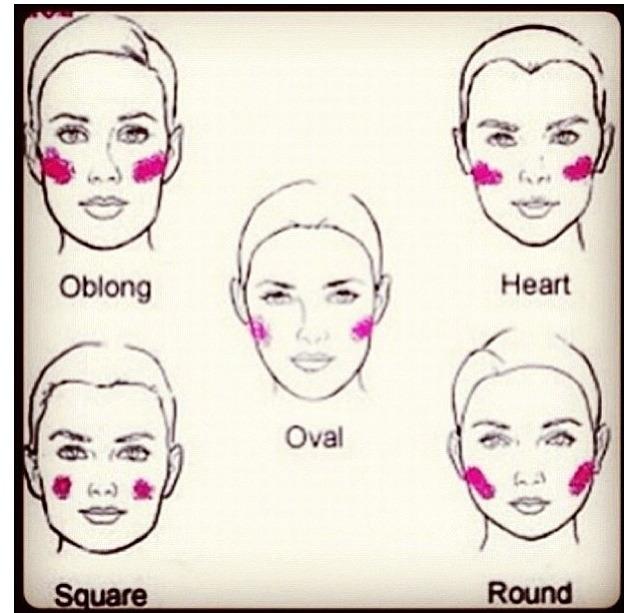 Eye makeup for diamond face shape