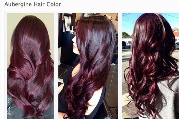 Каштановый цвет волос с фиолетовым оттенком