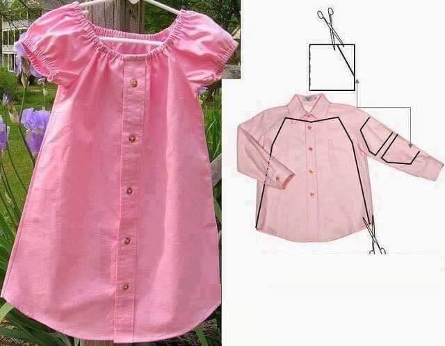 Сшить детское платье своими руками из мужской рубашки своими руками
