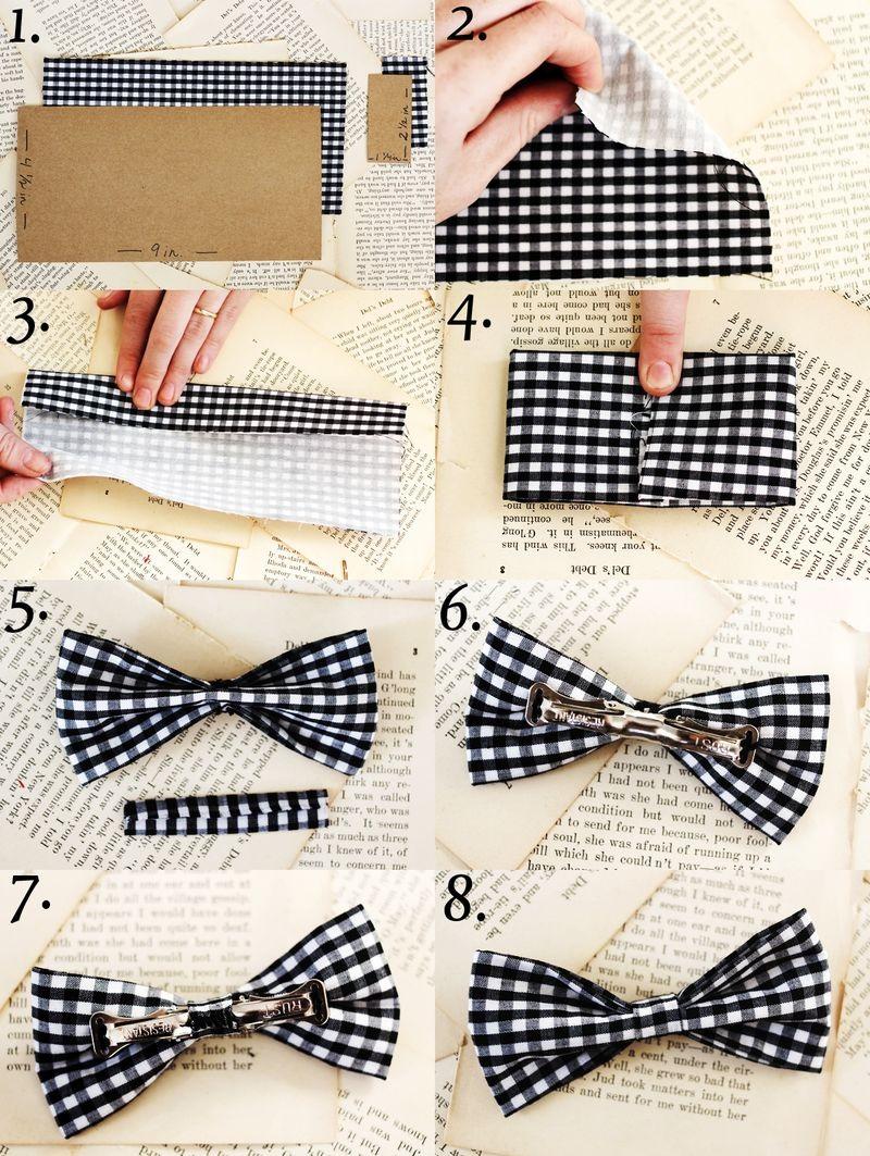 Сшить бабочку галстук на резинке