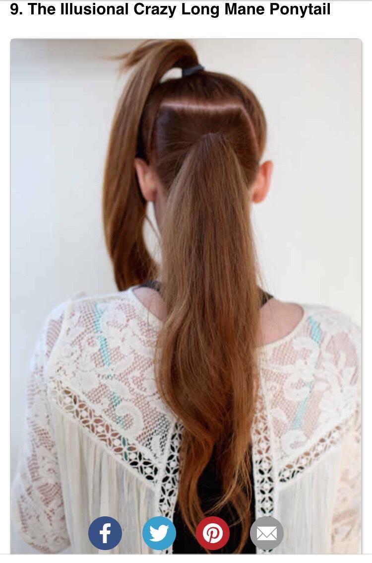Как визуально сделать длиннее волосы тем