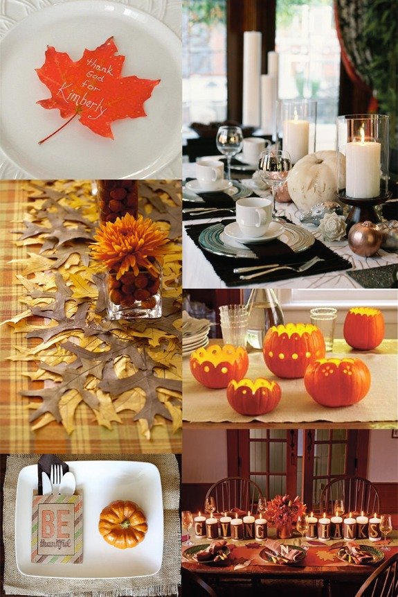 Some cute thanksgiving table ideas musely