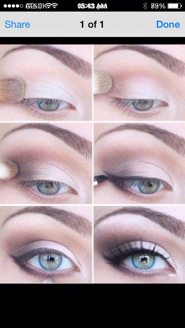 Как с помощью косметики сделать глаза уже