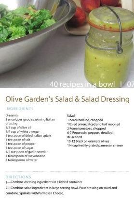 Olive Gardens Salad Salad Dressing Recipe Musely