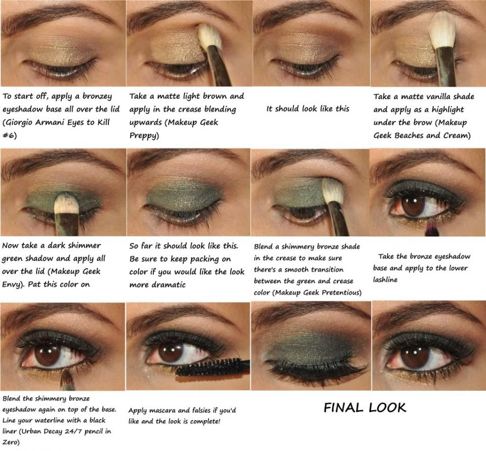 Best eye makeup for green eyes and brown hair