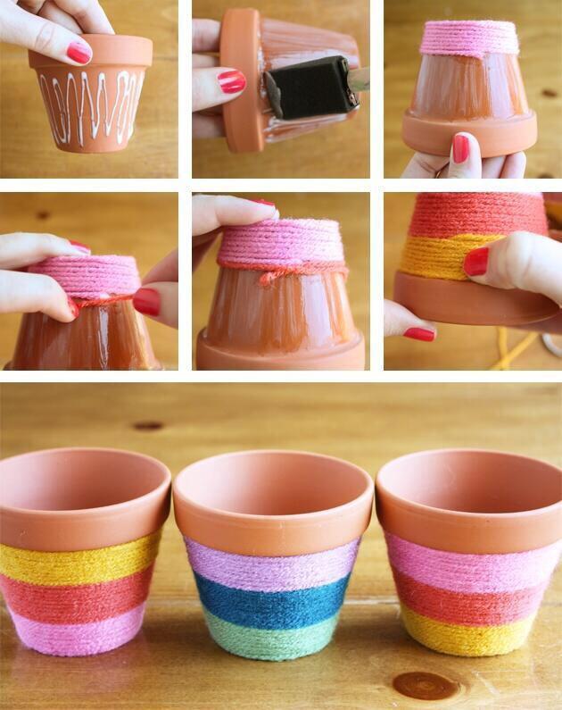 Как сделать красивый горшочек
