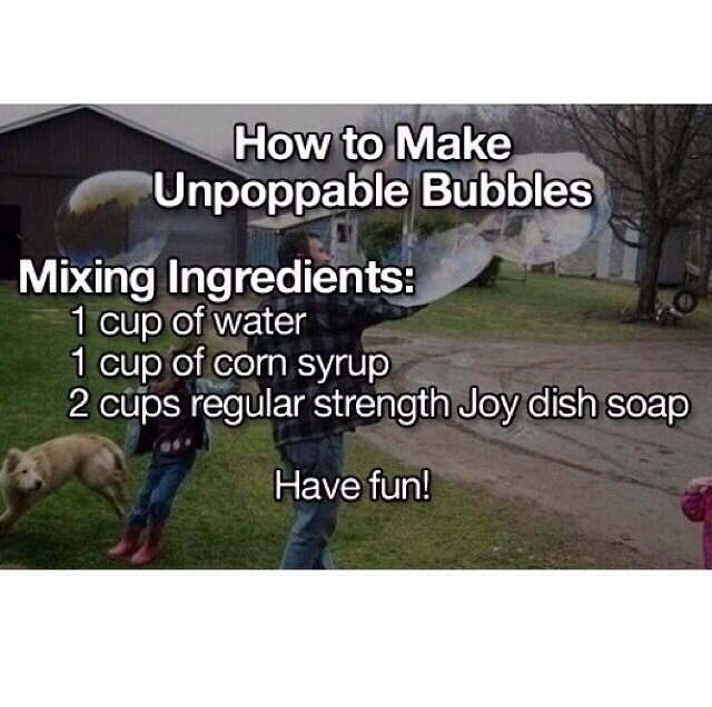 How to Make Unpoppable Bubbles