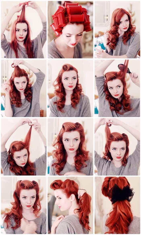 Как сделать ретро прическу длинные волосы