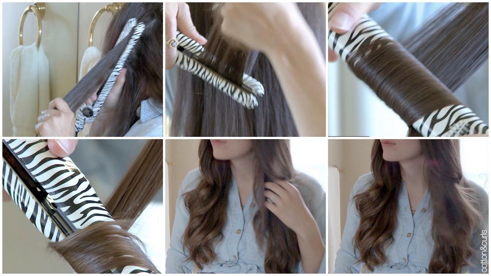 Как накрутить волосы на утюжок фото пошагово в