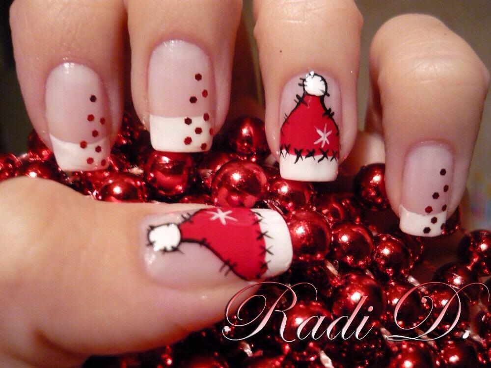 Фото новогоднего дизайна ногтей новинки