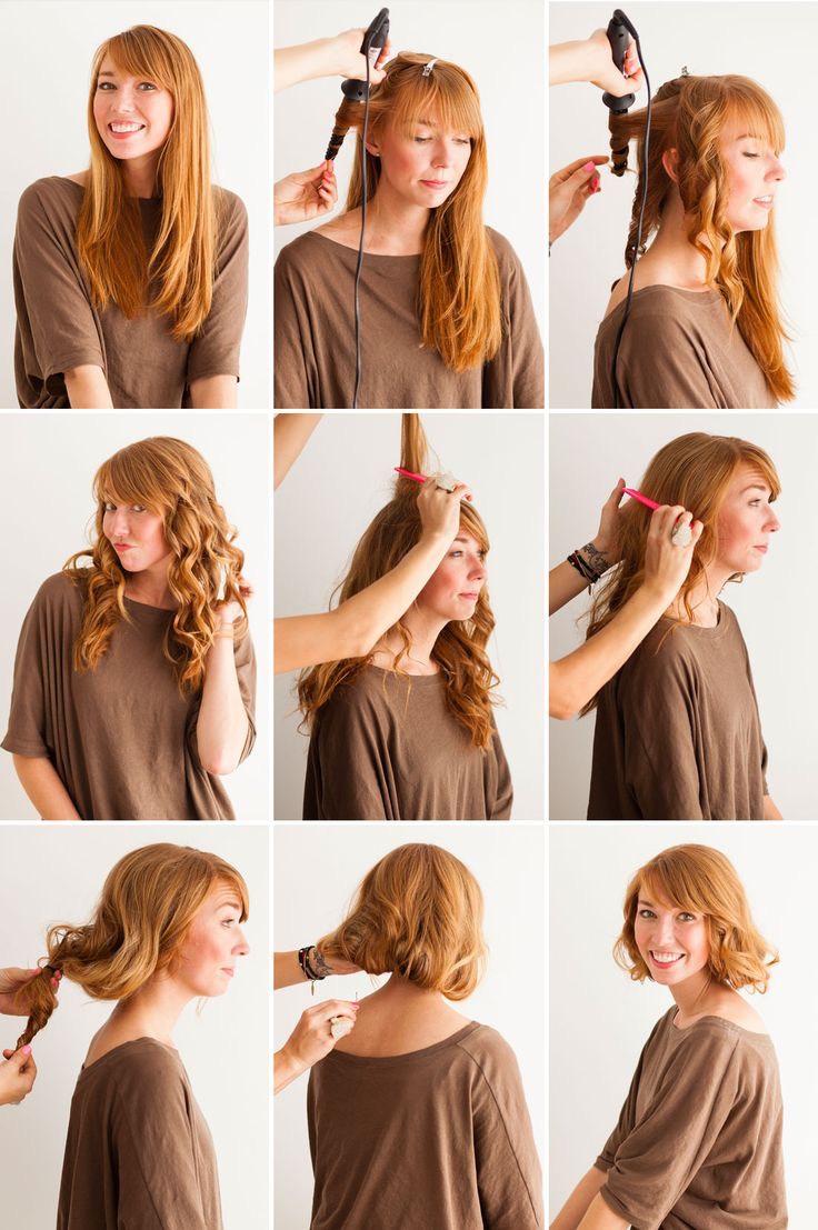Прическа для волос каре в домашних условиях