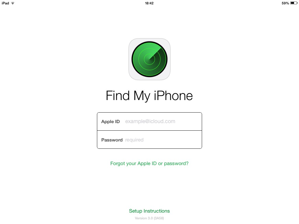 find my iphone sign in
