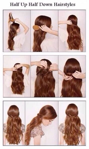 Groovy Half Up Half Down Hairstyles Step By Step Musely Short Hairstyles Gunalazisus