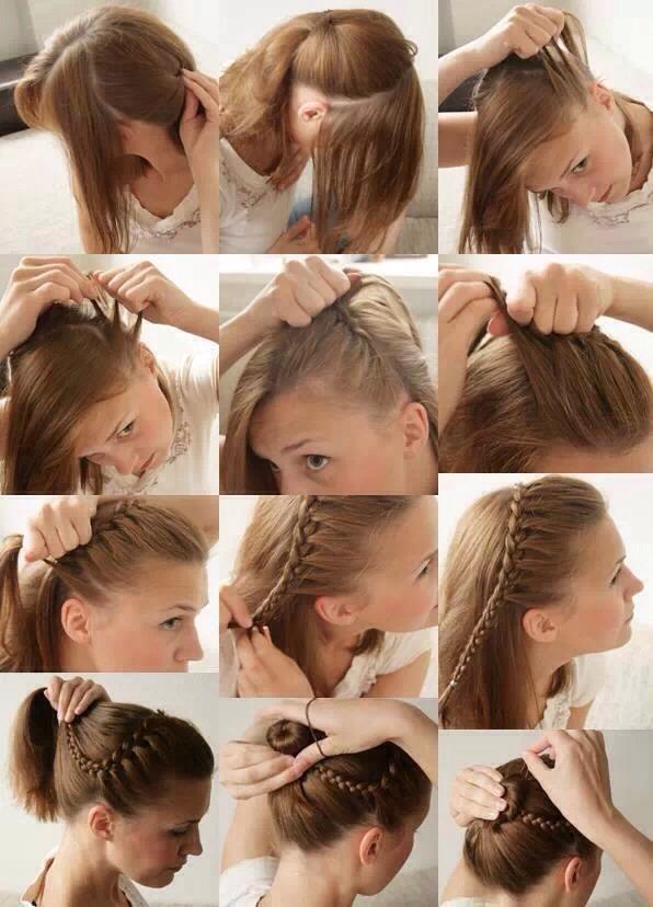 Простые причёски на длинные волосы своими руками в домашних 29