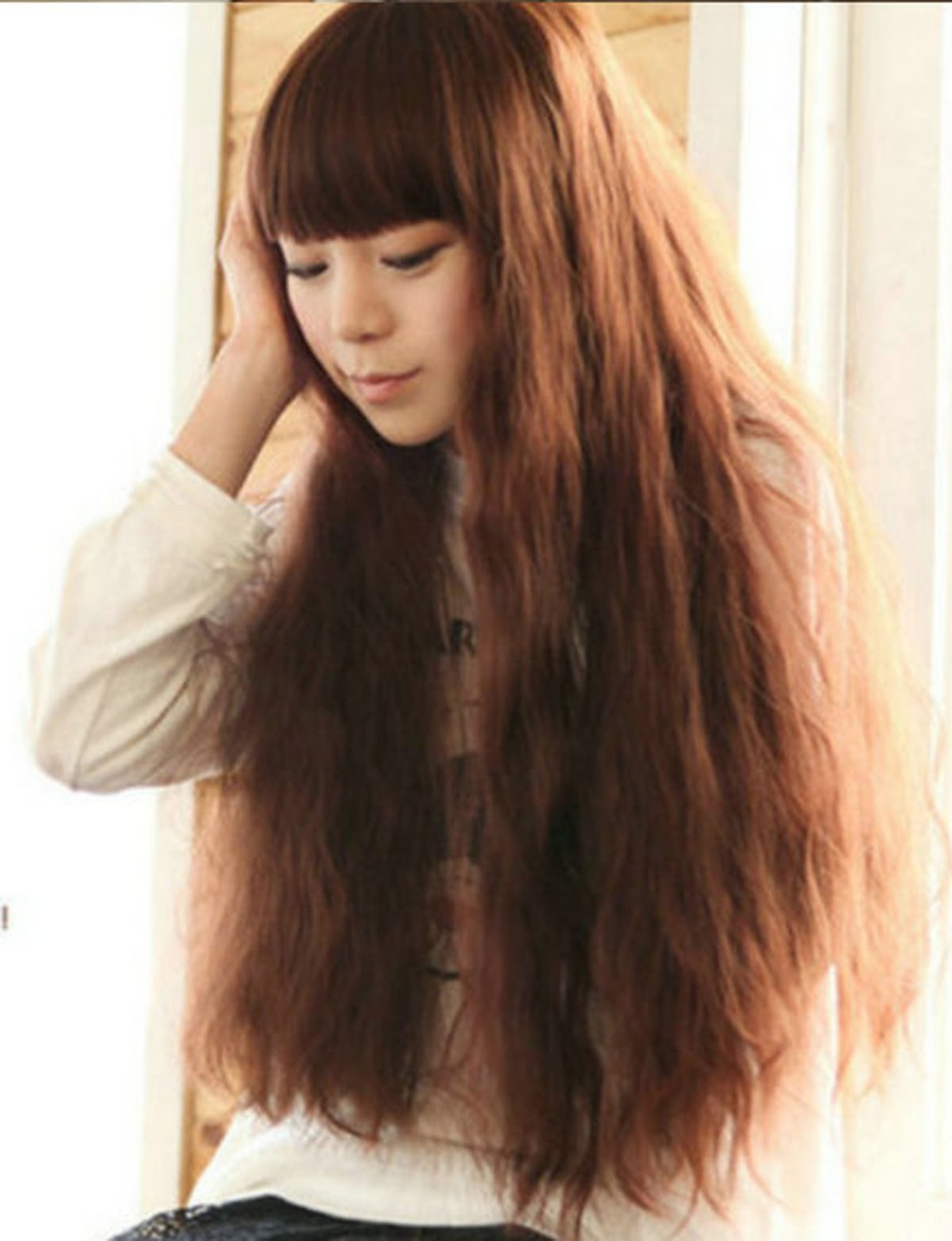 Фото девушек с коричневыми волосами прически