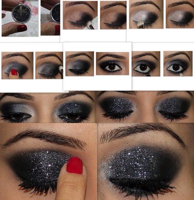Как накрасить глаза тенями коричневыми