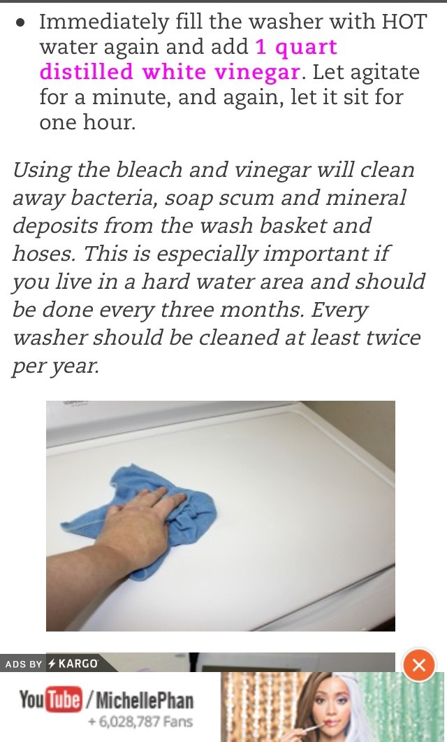 how to get clean washing machine