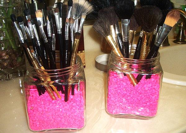 Баночки для кистей макияжа своими руками