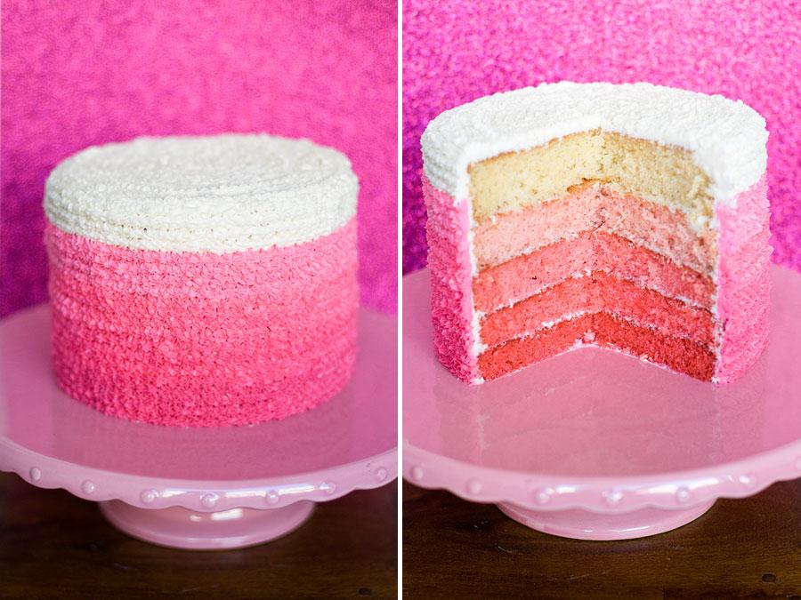 Как сделать красный цвет для торта